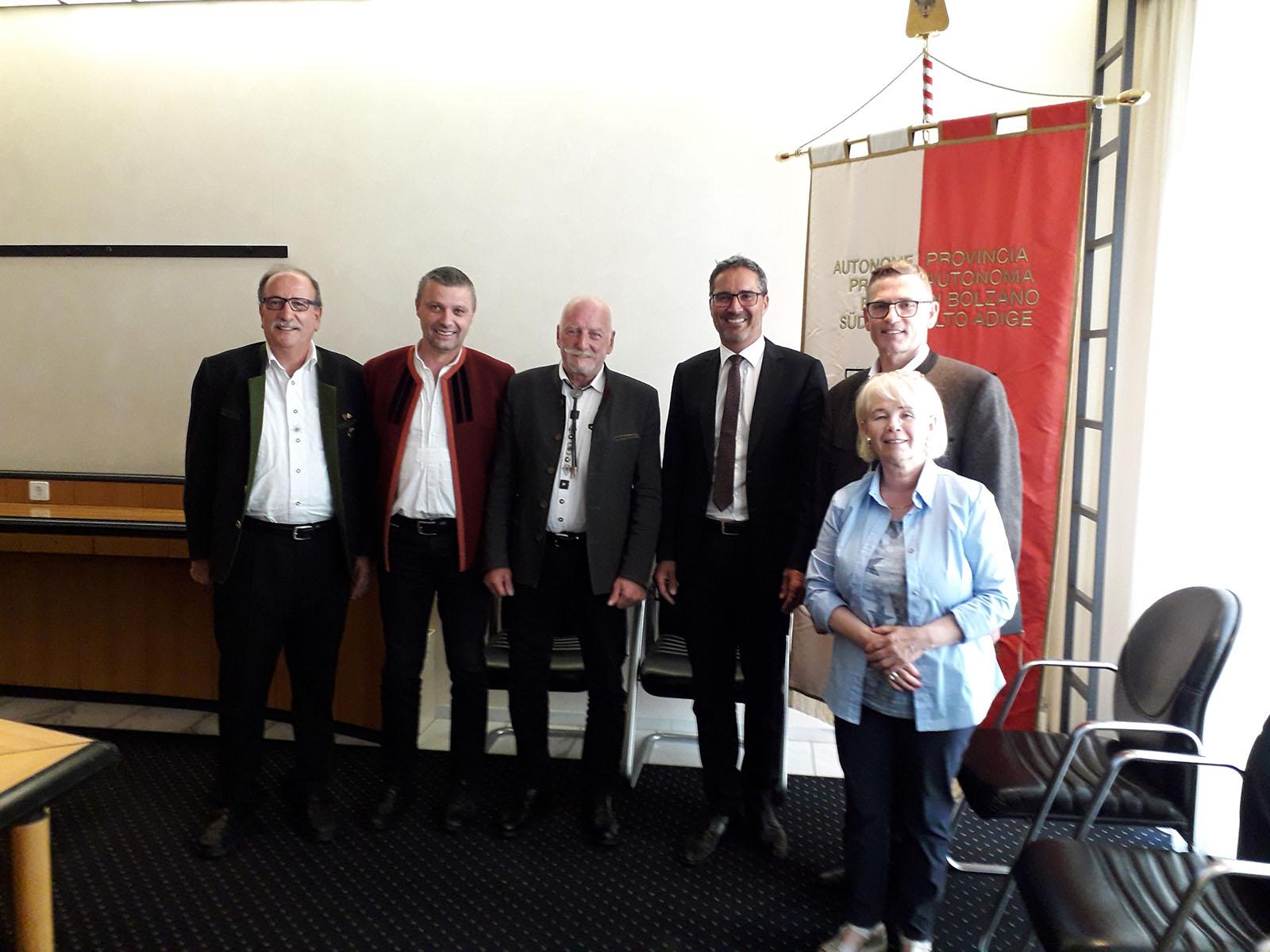 Treffen mit Südtirols Landeshauptmann Arno Kompatscher