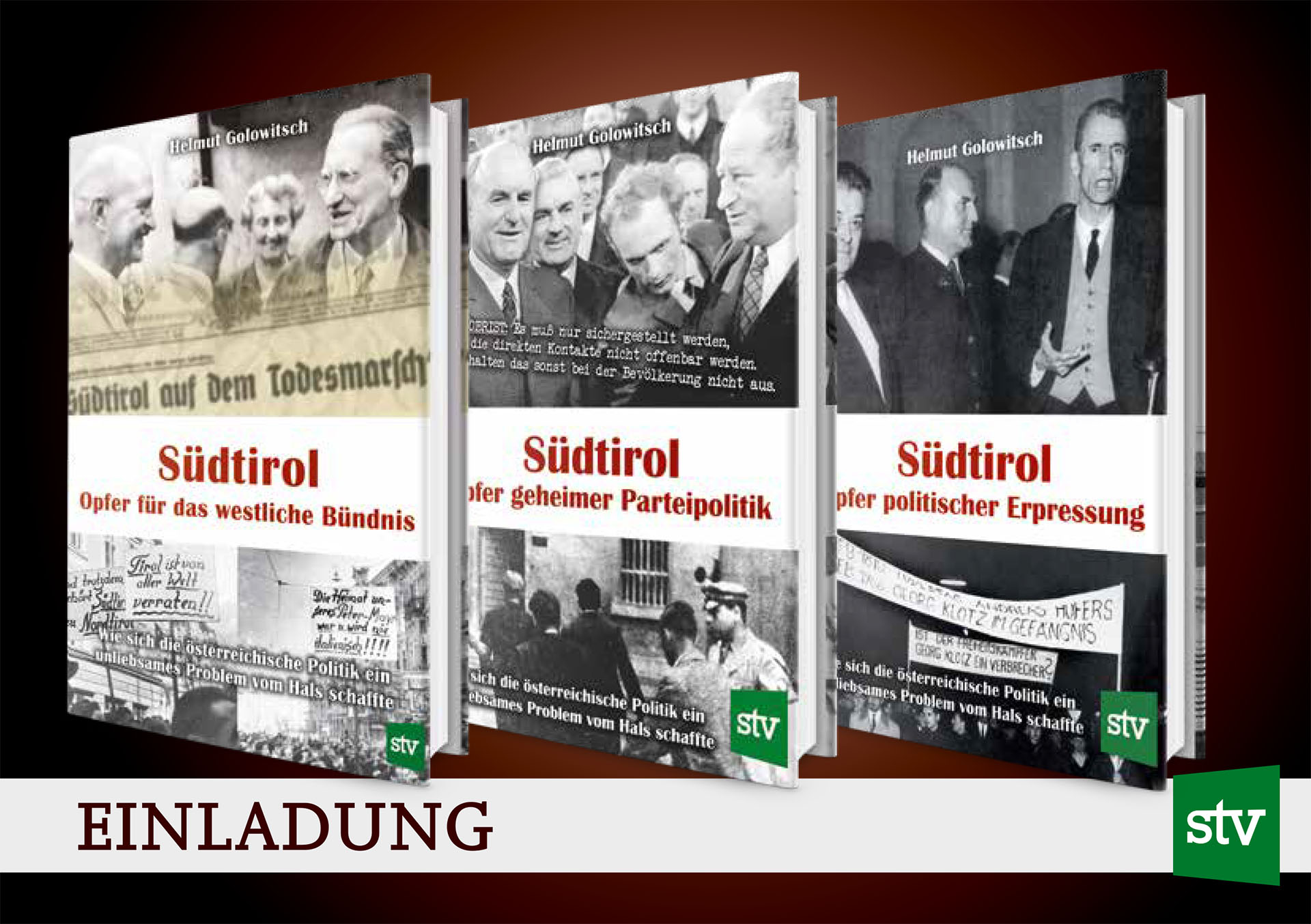 Vortrag 08.02.2020Südtirol: Opfer politischer Erpressung(Band 3)