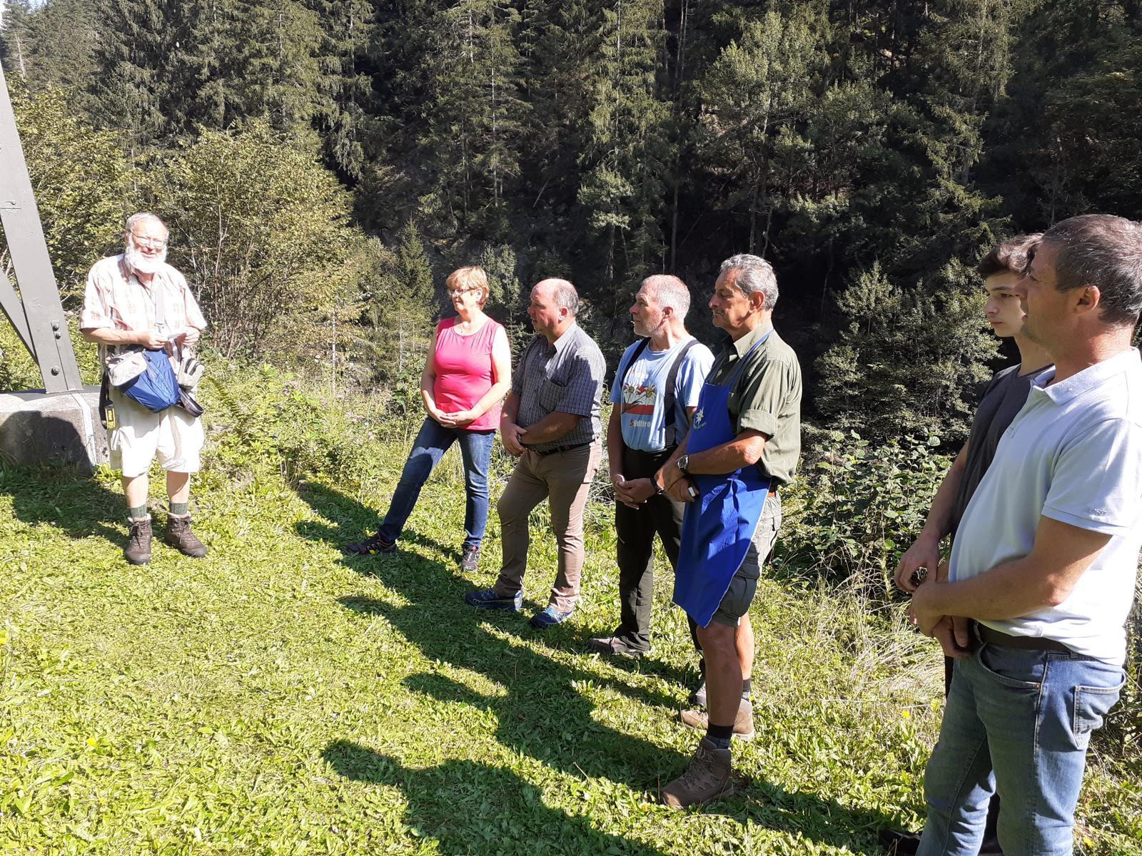 Andreas Hofer Bund Tirol und Andreas Hofer Bund e.V. Deutschland bei der Klotz Hütte im Ruetztal, Stubai.